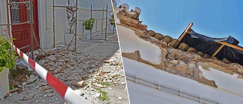 Κατέρρευσε η σκεπή του Αγίου Νικολάου στο Ναύπλιο (φωτό & βίντεο)