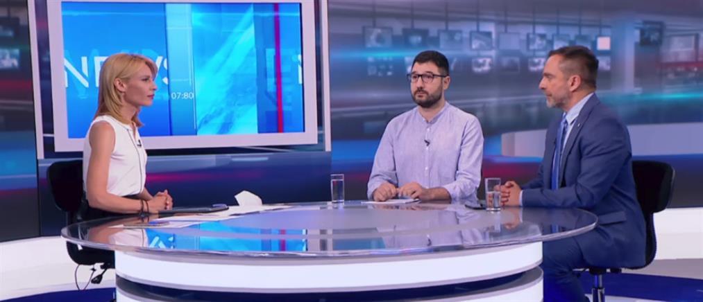 Ηλιόπουλος – Καρύδας στον ΑΝΤ1 για τις εκλογές στις 7 Ιουλίου (βίντεο)