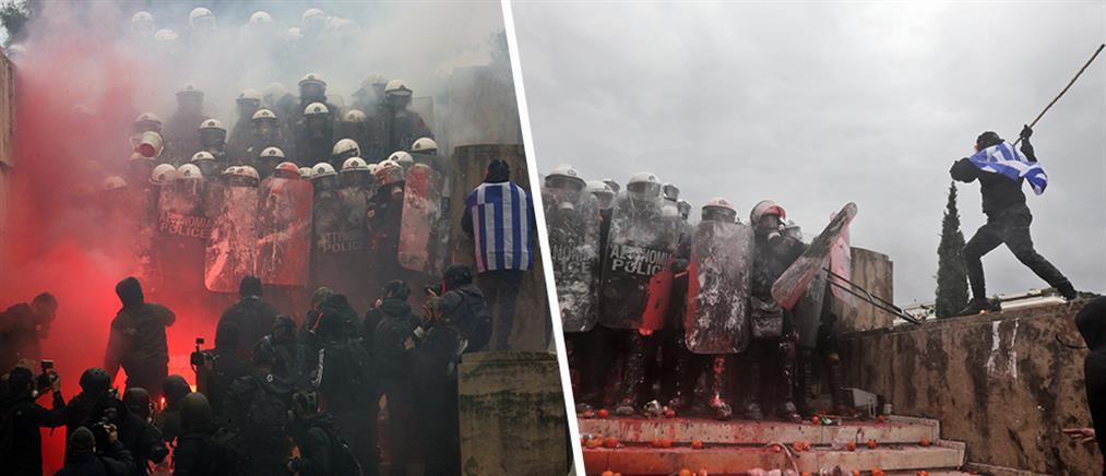 Συλλαλητήριο για την Μακεδονία: Επεισόδια έξω από την Βουλή