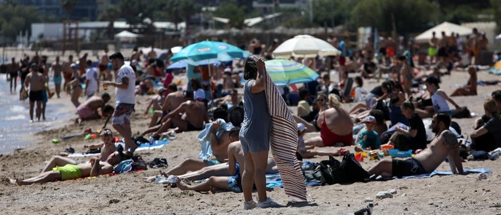 ?Συνωστισμός στις παραλίες της Αττικής (βίντεο)