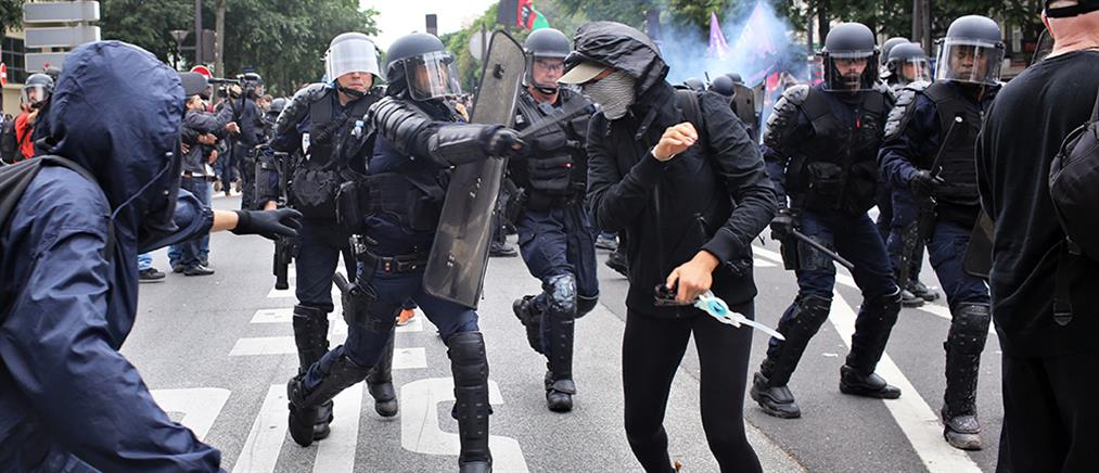 Επεισόδια στη διαδήλωση για τα εργασιακά στο Παρίσι (βίντεο+φωτο)