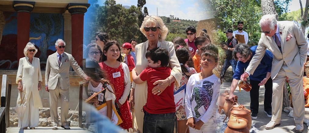 Στην Κρήτη ο Πρίγκιπας Κάρολος και η Καμίλα (βίντεο)