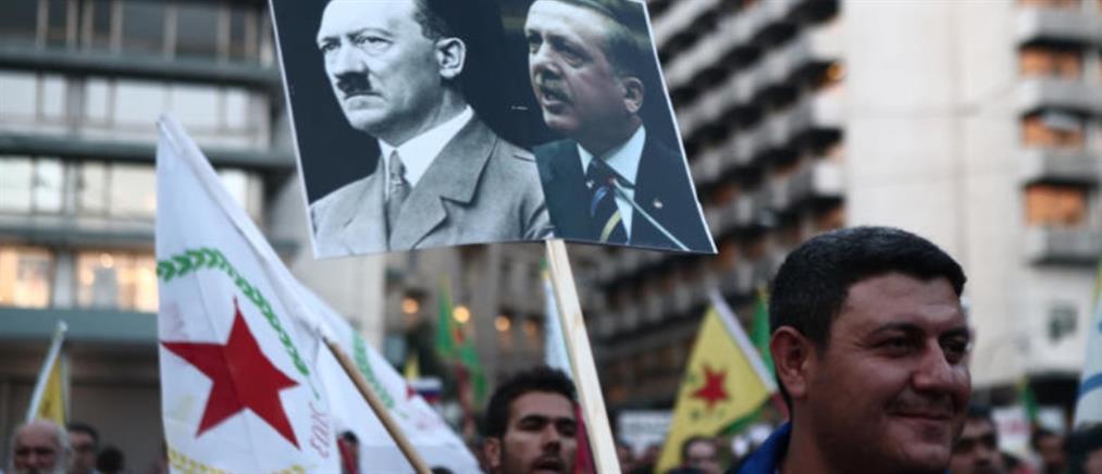 Επεισόδια στην πορεία των Κούρδων στην Αθήνα (εικόνες)