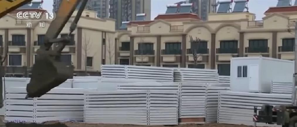 Κοροναϊός: Χτίζεται και δεύτερο νοσοκομείο μέσα σε λίγες μέρες