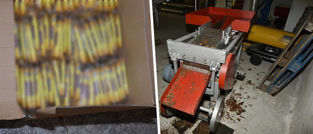 """""""Λουκέτο"""" σε παράνομα εργαστήρια λαθραίου καπνού (εικόνες)"""