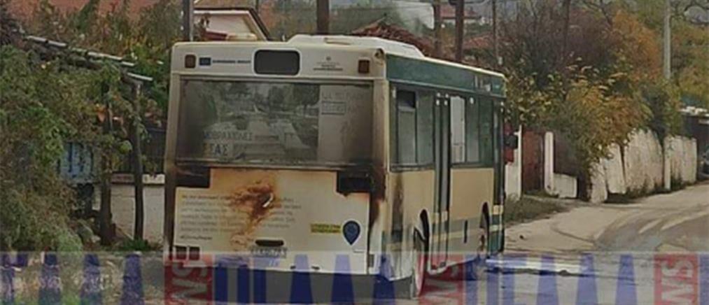 Φωτιά σε λεωφορείο του ΚΤΕΛ (εικόνες)