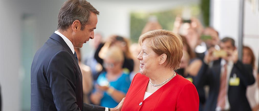 Σχέδιο επενδύσεων στην Ελλάδα συμφώνησαν Μέρκελ - Μητσοτάκης