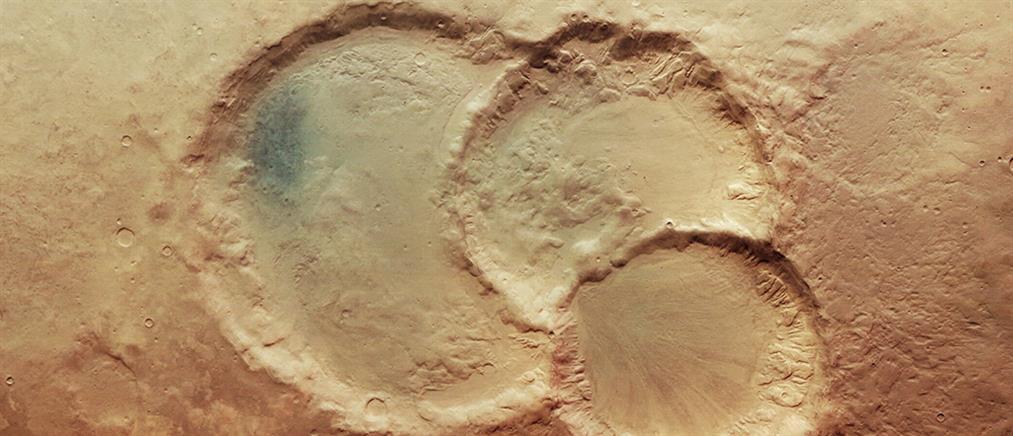 Σπάνιο φαινόμενο: Τριπλός κρατήρας στον Άρη (εικόνα)