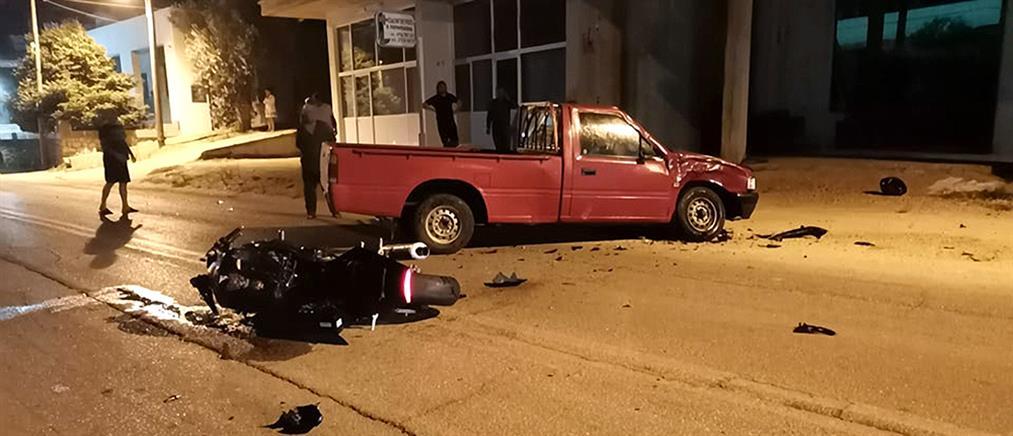 Νεκρή 30χρονη συνεπιβάτης μηχανής σε τροχαίο δυστύχημα (εικόνες)