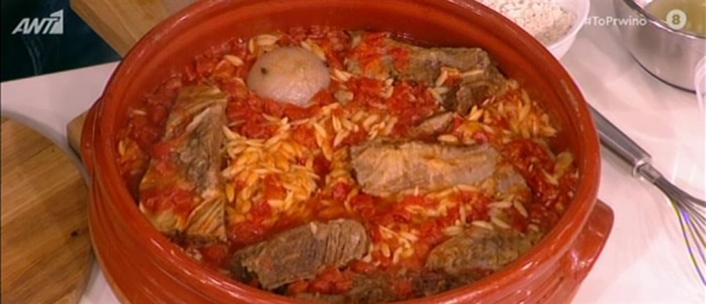 Γιουβέτσι και κρεατόσουπα από τον Βασίλη Καλλίδη