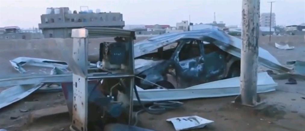 Υεμένη: βομβάρδισαν βενζινάδικο (εικόνες)