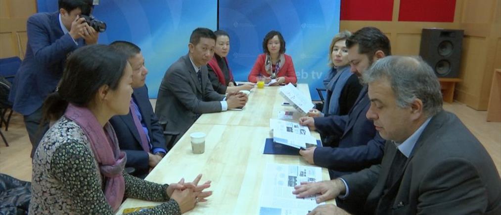 Συνάντηση Κρέτσου με τον Πρόεδρο του μεγαλύτερου δημοσιογραφικού ομίλου στην Κίνα