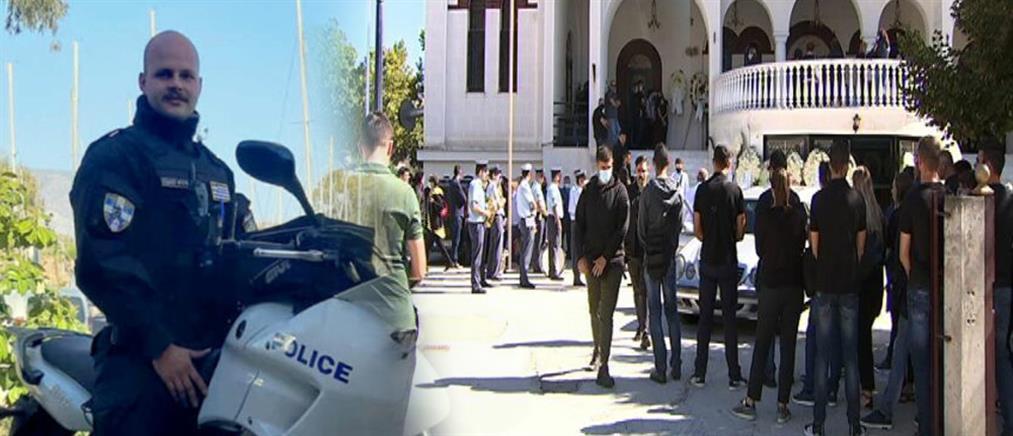 Θρήνος στην κηδεία του αστυνομικού που τραυματίστηκε εν ώρα υπηρεσίας