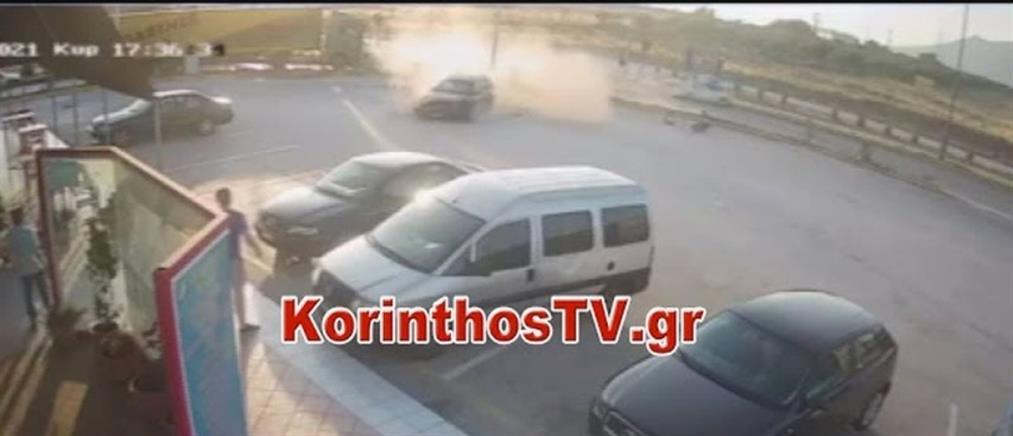 Κόρινθος: τρομακτικό τροχαίο δίπλα στην Διώρυγα (βίντεο)