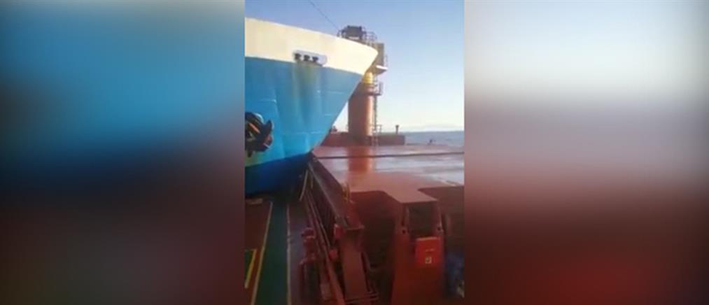 Βίντεο ντοκουμέντο από τη σύγκρουση πλοίων ανοιχτά των Κυθήρων (εικόνες)