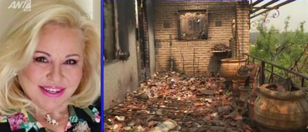 Φωτιά στα Γεράνεια - Αργυράκη: καταστραφήκαμε, αλλά ευτυχώς δεν χάθηκε άνθρωπος (βίντεο)