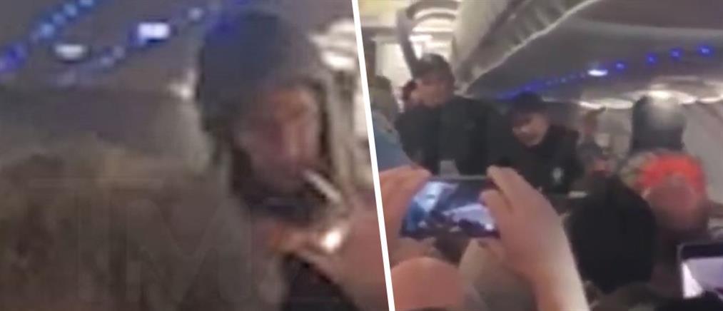 """""""Θεριακλής"""" προκάλεσε αναγκαστική προσγείωση αεροπλάνου (βίντεο)"""