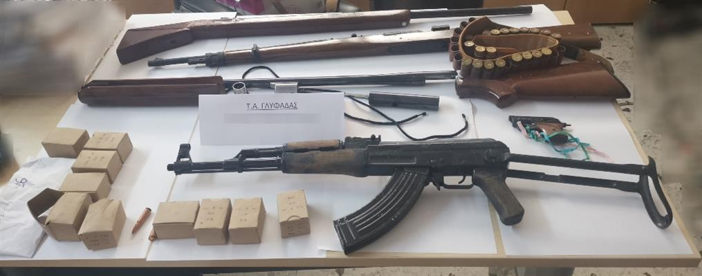 Γλυφάδα: βρέθηκε οπλοστάσιο σε δύο σπίτια
