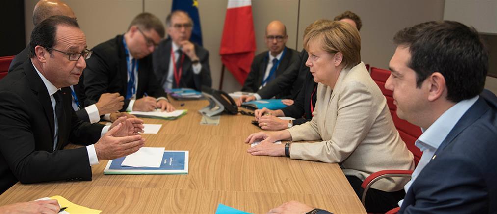 Την Τρίτη η έκτακτη Σύνοδος Κορυφής της Ευρωζώνης που ζήτησαν Μέρκελ-Ολάντ