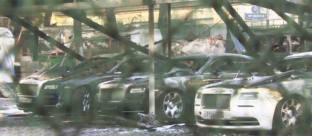 Παρανάλωμα του πυρός έγιναν πολυτελή αυτοκίνητα σε ιδιωτικό πάρκινγκ