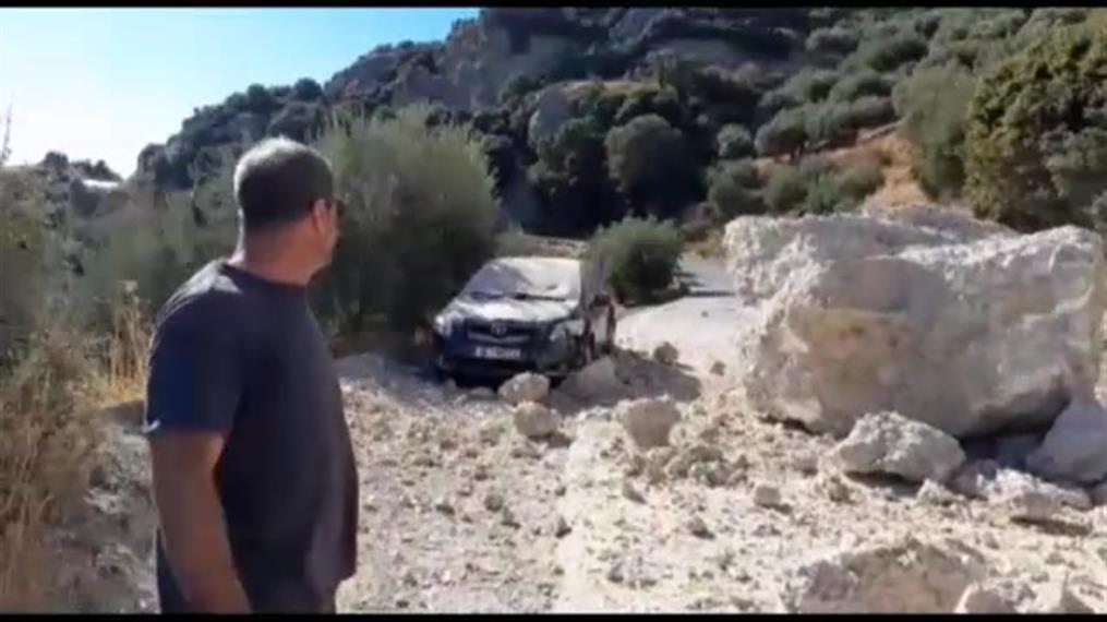 Κατολισθήσεις από τον ισχυρό σεισμό στην Κρήτη