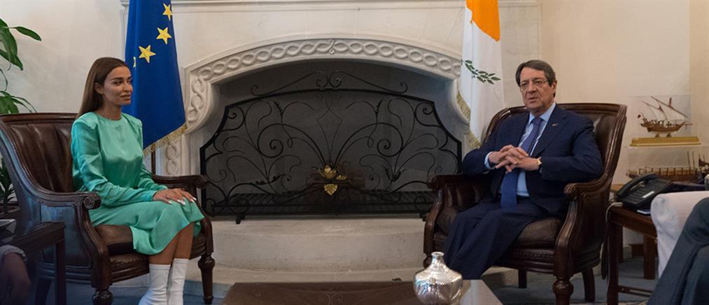 Με τον Πρόεδρο της Κύπρου συναντήθηκε η Φουρέιρα (εικόνες)