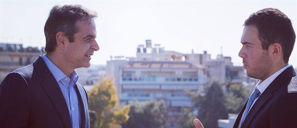 Συνάντηση Μητσοτάκη με τον γιο του ήρωα των Ιμίων, Χριστόδουλου Καραθανάση