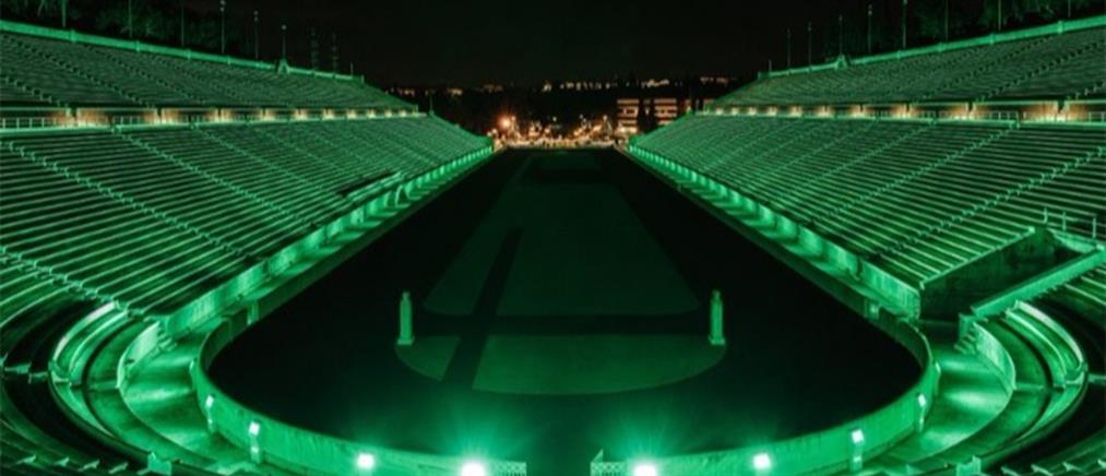 Παναθηναϊκό Στάδιο: Στα πράσινα για την Ημέρα του Αγίου Πατρικίου (εικόνες)