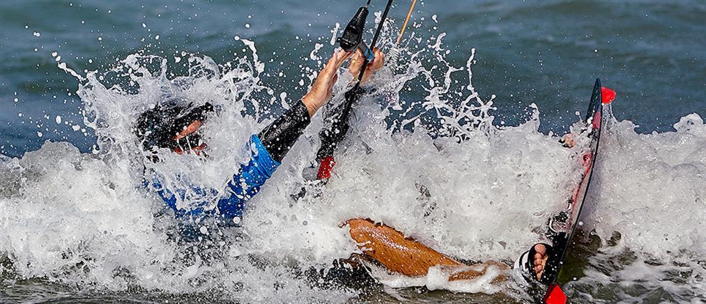 Τραυματισμός kitesurfer στη Νάξο