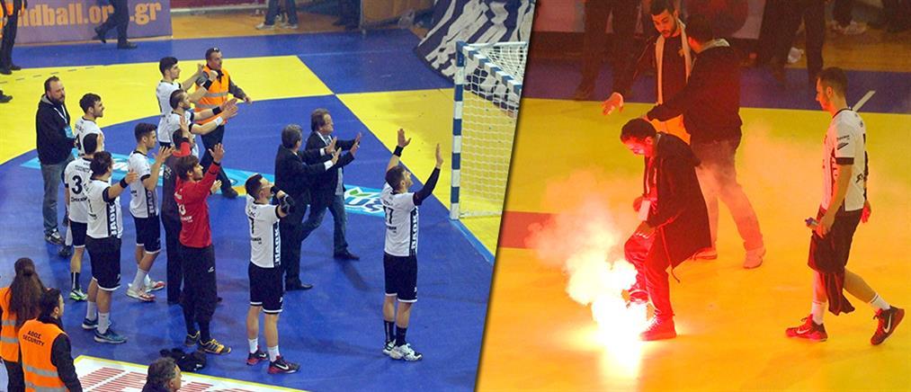 Χάντμπολ: Επεισόδια και τραυματίες στον τελικό Κυπέλλου ΑΕΚ-ΠΑΟΚ