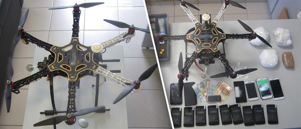 Απόπειρα μεταφοράς ναρκωτικών με drone στις φυλακές Λάρισας
