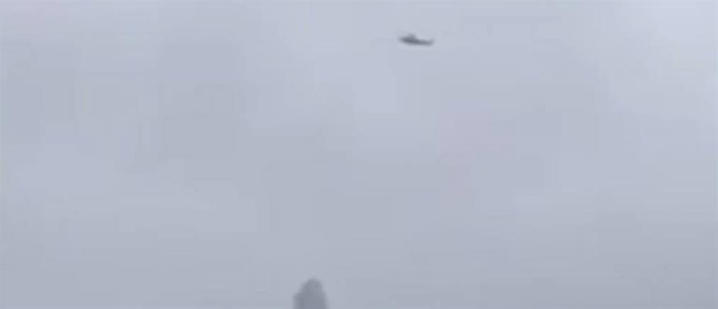 """Νέα Υόρκη: Η """"τρελή"""" πορεία του ελικοπτέρου πριν πέσει στον ουρανοξύστη (βίντεο)"""