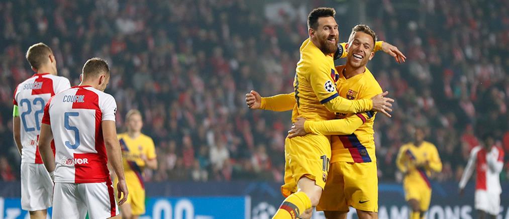 "Champions League: Ιστορικό γκολ ο Μέσι, ""ζωντανή"" η Ίντερ"