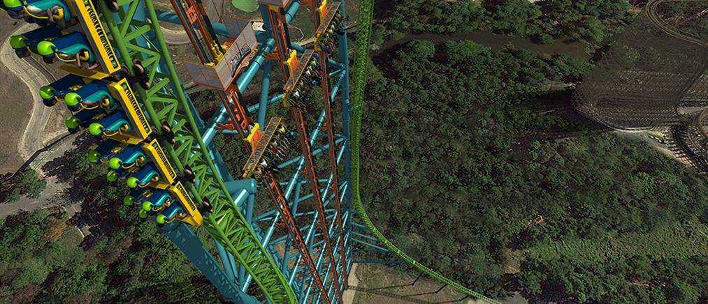 «Ελεύθερη πτώση» από ύψος 126,5 μέτρων σε λούνα παρκ