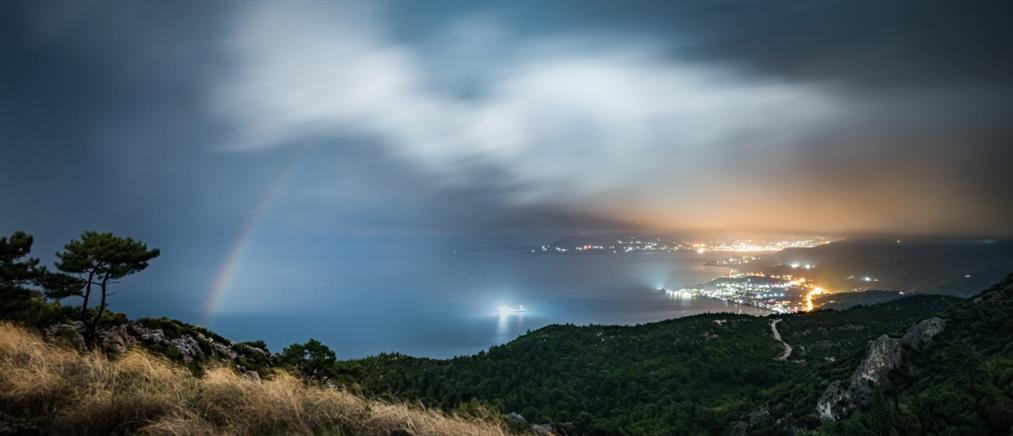 Moonbow: Νυχτερινό ουράνιο τόξο στη Σάμο (εικόνες)