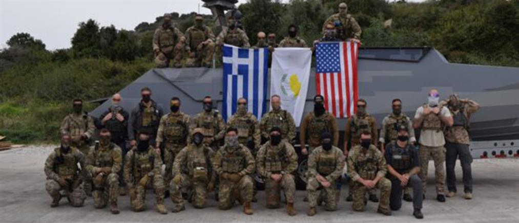 Δυνάμεις ειδικών επιχειρήσεων Ελλάδας – Κύπρου – ΗΠΑ στη Σούδα (εικόνες)