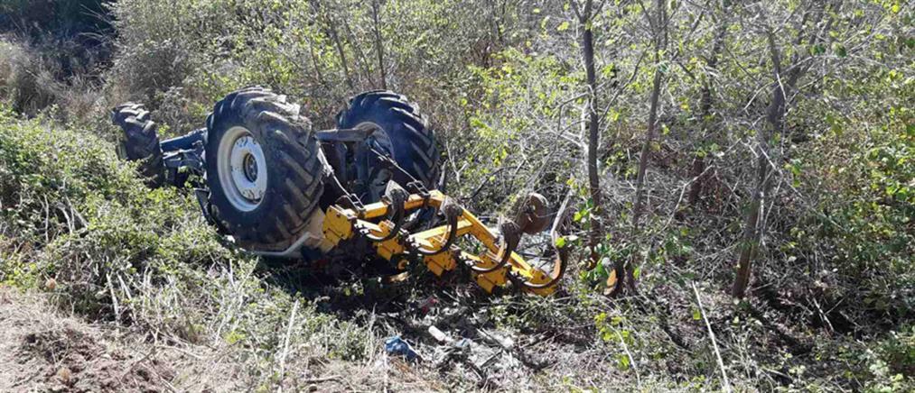 Τραγωδία: αγρότης έπεσε σε χαντάκι με το τρακτέρ του