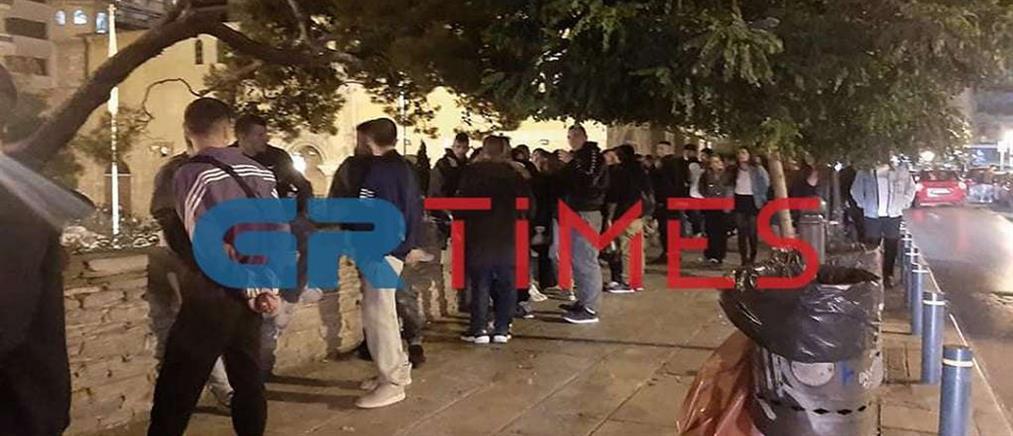 Κορονοϊός - Θεσσαλονίκη: συνωστισμός στο κέντρο (εικόνες)