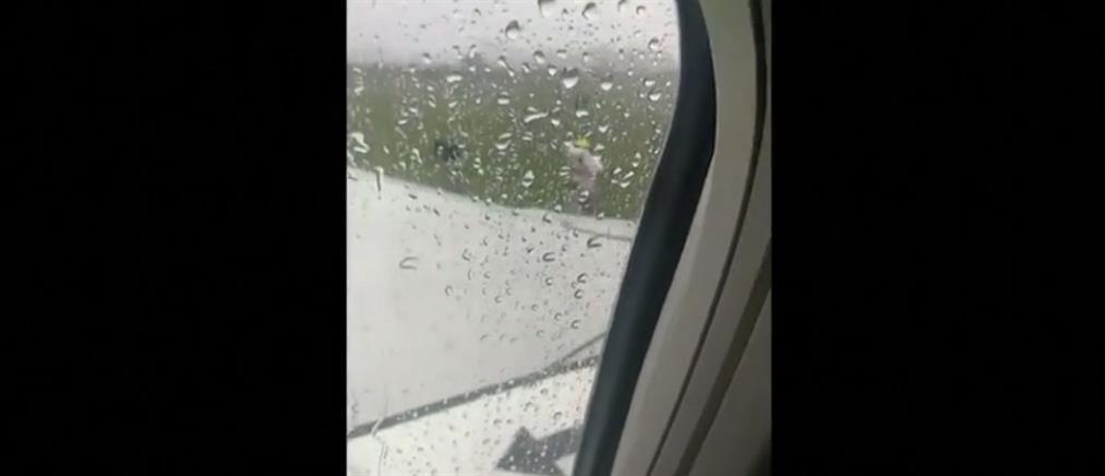 Πανικός σε αεροπλάνο που προσγειώθηκε εκτός διαδρόμου (βίντεο)