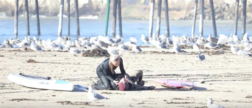 Του έσωσε τη ζωή με το πρώτο της φιλί, στο πρώτο τους ραντεβού! (εικόνες)