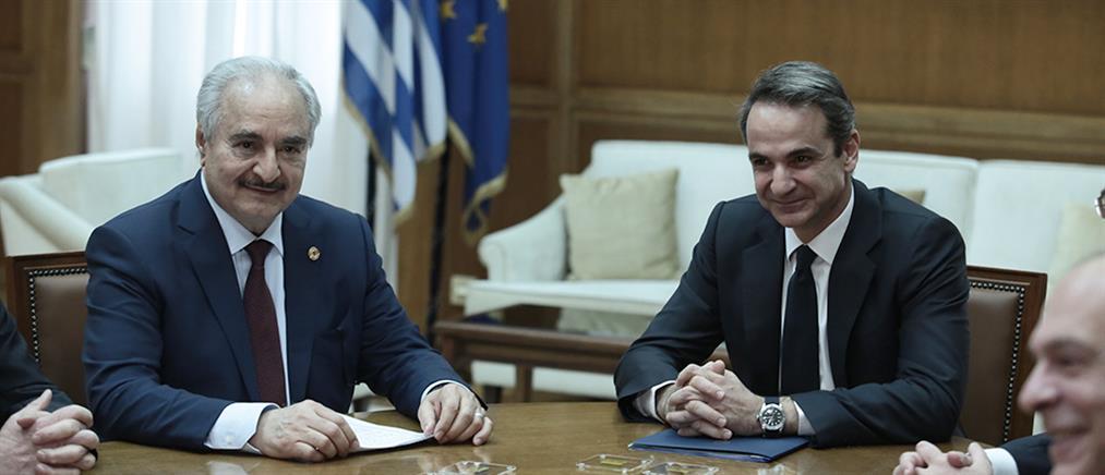Μητσοτάκης – Χάφταρ: άκυρες οι συμφωνίες Τουρκίας - Σάρατζ