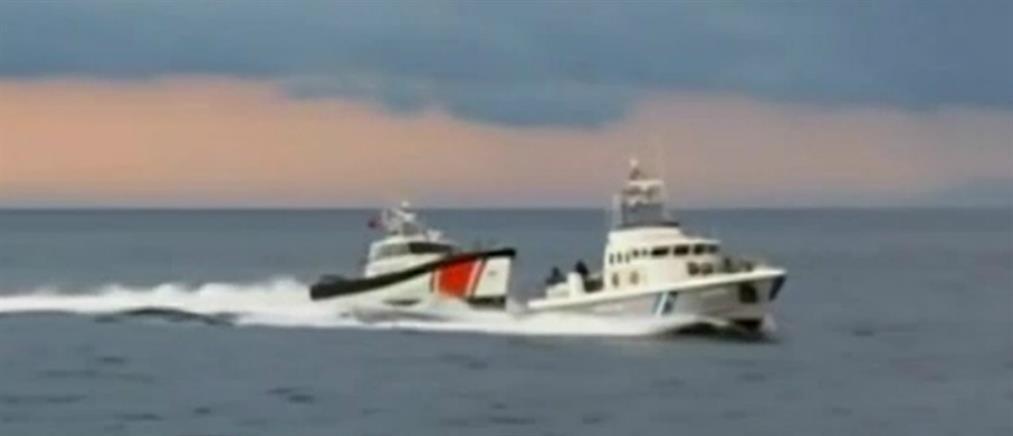 Νέες εικόνες από την απόπειρα εμβολισμού ελληνικού σκάφους από τουρκική ακταιωρό (βίντεο)