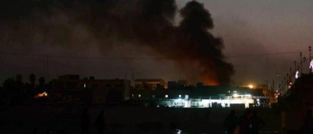 Μπαράζ επιθέσεων με ρουκέτες στο Ιράκ (εικόνες)