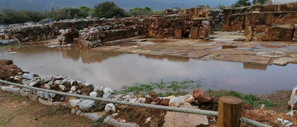 Μάλια: Πλημμύρισε ο αρχαιολογικός χώρος (εικόνες)