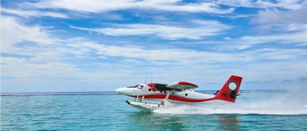 Fly in με υδροπλάνα στη Λίμνη Πλαστήρα (βίντεο)