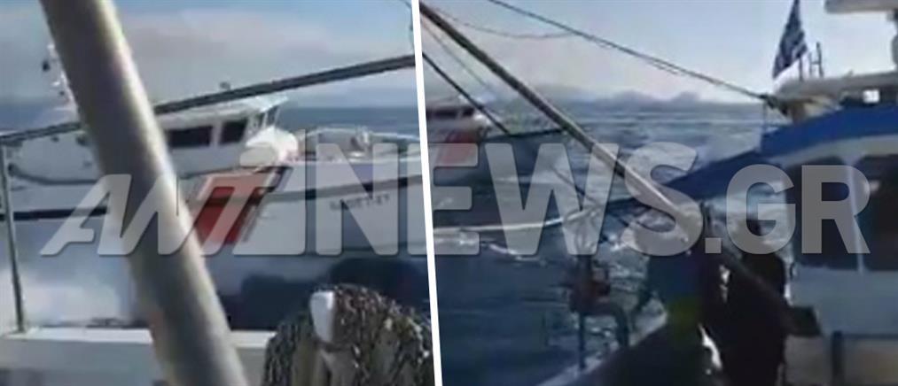 Σκάφος της τουρκικής ακτοφυλακής παρενοχλεί Έλληνες ψαράδες κοντά στα Ίμια (βίντεο)