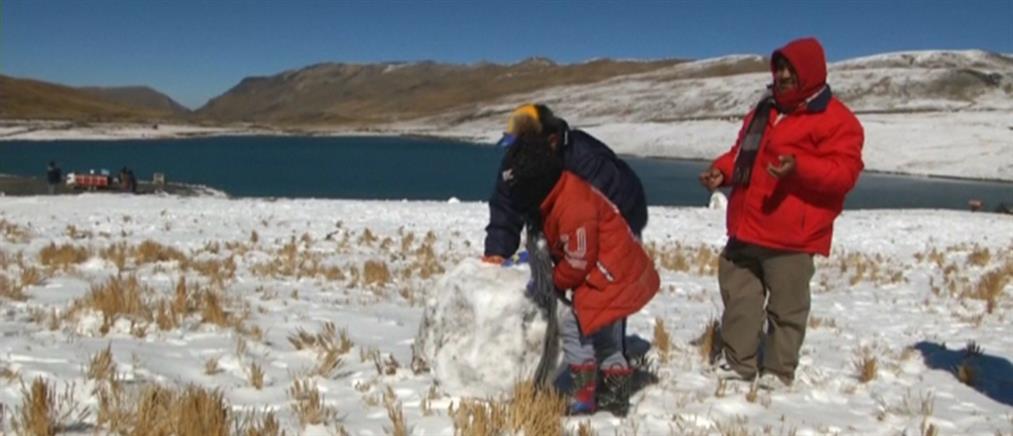 Χιόνια στη Βολιβία! (βίντεο)