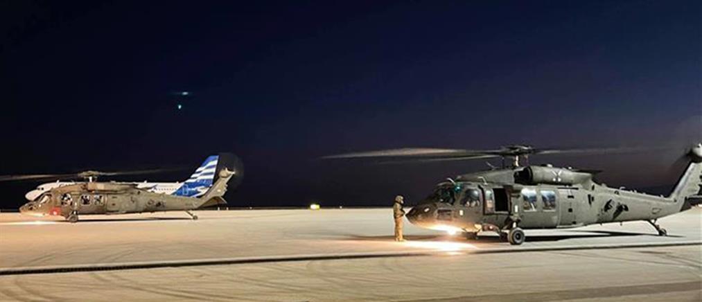 Αλεξανδρούπολη: έφτασαν τα πρώτα αμερικανικά μαχητικά ελικόπτερα (εικόνες)