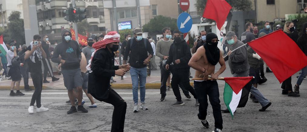 Ισραήλ: επεισόδια έξω από την πρεσβεία στην Αθήνα (εικόνες)