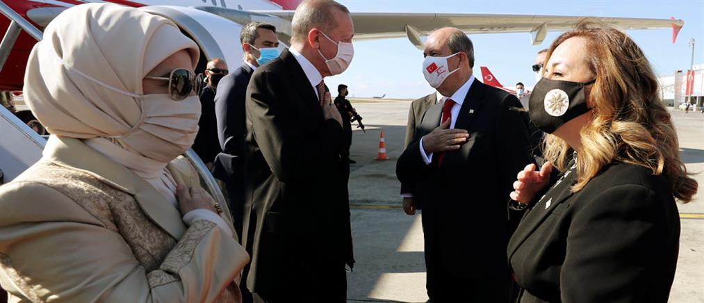 Ερντογάν από Κατεχόμενα: δεν θα ανεχτούμε διπλωματικά παιχνίδια